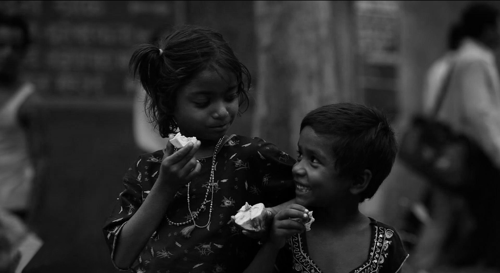 children image-two girl eat something